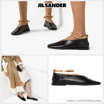 Jil Sander Square Toe Casual Style Blended Fabrics Plain Leather