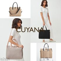 CUYANA Casual Style Canvas Street Style A4 2WAY 3WAY Bi-color Plain