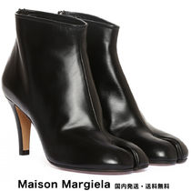 Maison Margiela Tabi Rubber Sole Plain Leather Pin Heels Ankle & Booties Boots
