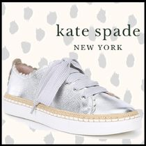 kate spade new york Rubber Sole Casual Style Plain Leather Low-Top Sneakers