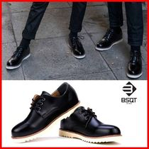 BSQT Unisex Street Style Leather Boots