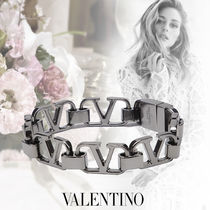 VALENTINO VLOGO Costume Jewelry Casual Style Unisex Party Style Silver