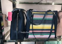 kate spade new york Stripes 2WAY Leather Satchels