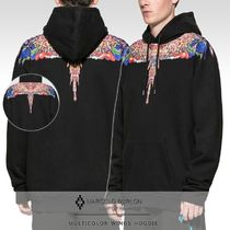 Marcelo Burlon Pullovers Unisex Street Style Long Sleeves Plain Cotton
