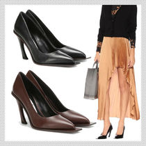 Acne Plain Leather Pin Heels Office Style Stiletto Pumps & Mules