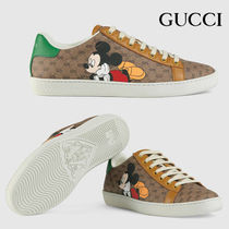GUCCI Ace Unisex Leather Low-Top Sneakers