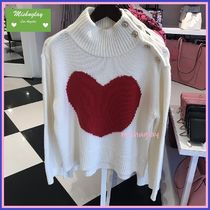 kate spade new york BROOME STREET LABEL Heart Long Sleeves Turtlenecks