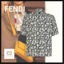 FENDI Camouflage Long Sleeves Shirts
