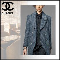 CHANEL Cotton Party Style Elegant Style Shirts & Blouses
