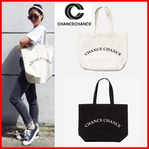 CHANCECHANCE Casual Style Unisex Street Style A4 2WAY Totes