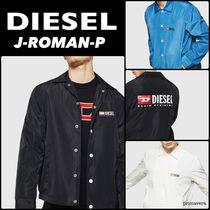 DIESEL Short Nylon Plain Jackets