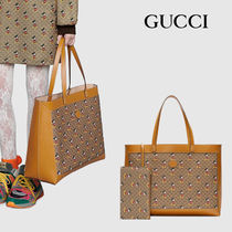 GUCCI Casual Style Blended Fabrics Street Style Collaboration A4