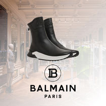 BALMAIN Plain Toe Rubber Sole Casual Style Street Style Plain