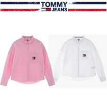 Tommy Hilfiger Long Sleeves Plain Shirts & Blouses