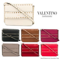 VALENTINO Casual Style Blended Fabrics Studded 3WAY Bi-color Plain