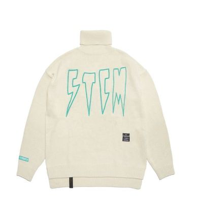 Unisex Street Style Long Sleeves Oversized Logo Sweaters