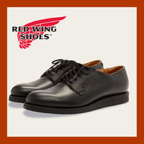 RED WING Plain Toe Plain Leather Boots