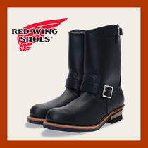 RED WING Plain Leather Engineer Boots