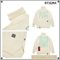 STIGMA Casual Style Unisex Street Style Long Sleeves Medium