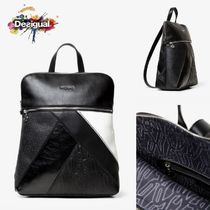 Desigual Casual Style Faux Fur 2WAY Backpacks