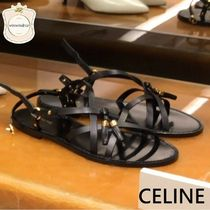 CELINE Casual Style Leather Sandals Sandal