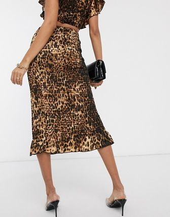 Leopard Patterns Casual Style Skirts