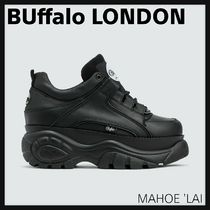 Buffalo LONDON Platform Rubber Sole Lace-up Casual Style Leather