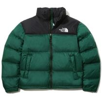 THE NORTH FACE Nuptse Short Unisex Street Style Plain Logo Down Jackets