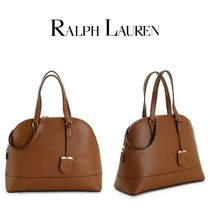 Ralph Lauren Casual Style 2WAY Plain Leather Elegant Style Satchels