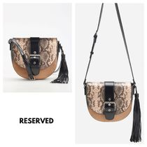 RESERVED Faux Fur 2WAY Other Animal Patterns Shoulder Bags