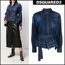 D SQUARED2 Denim Plain Cotton Shirts & Blouses