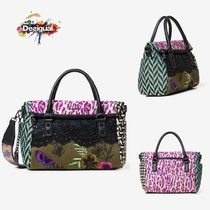 Desigual Flower Patterns Casual Style 2WAY Chain Handbags