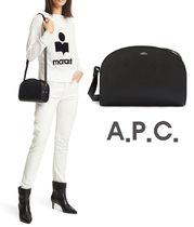 A.P.C. Plain Leather Party Style Elegant Style Shoulder Bags