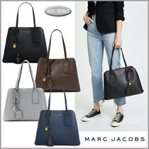 MARC JACOBS Casual Style A4 Plain Leather Office Style Elegant Style