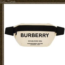 Burberry Casual Style Canvas Tassel Crossbody Shoulder Bags
