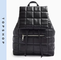 TOPSHOP Casual Style Faux Fur Backpacks