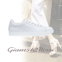 Gianvito Rossi Suede Blended Fabrics Street Style Plain Leather Sneakers