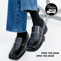 OPEN THE DOOR Loafers Street Style Plain Loafers & Slip-ons