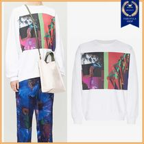 Dries Van Noten Crew Neck Long Sleeves Cotton Sweatshirts