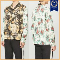 Dries Van Noten Flower Patterns Long Sleeves Shirts