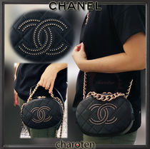 CHANEL ICON Casual Style Lambskin Blended Fabrics Studded 2WAY Chain