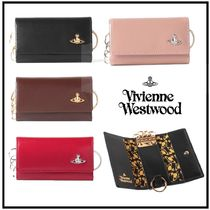 Vivienne Westwood Unisex Plain Leather Keychains & Bag Charms