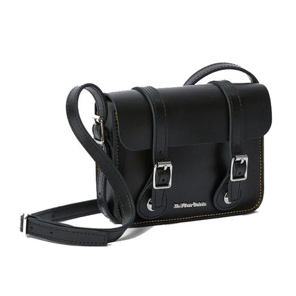Casual Style Unisex Street Style Plain Leather Crossbody