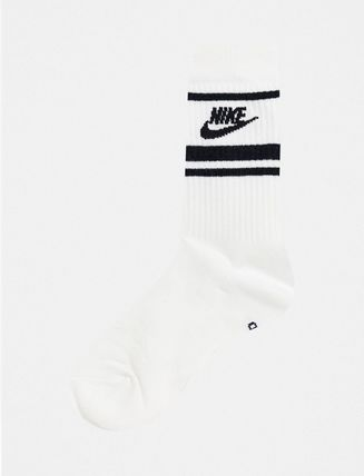 Nike Stripes Unisex Street Style Plain Cotton Logo