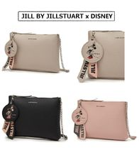 JILLSTUART Casual Style 2WAY Plain Leather Party Style Clutches