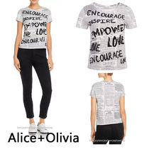Alice+Olivia Casual Style Cotton Short Sleeves Shirts & Blouses