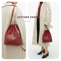 AESTHER EKME Casual Style Plain Leather Party Style Purses Office Style