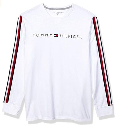 Tommy Hilfiger Long Sleeve Crew Neck Pullovers Unisex Street Style Long Sleeves Plain 4