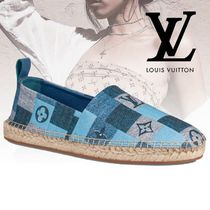Louis Vuitton Plain Toe Casual Style Blended Fabrics Street Style Leather