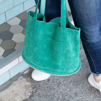 Casual Style Suede Totes